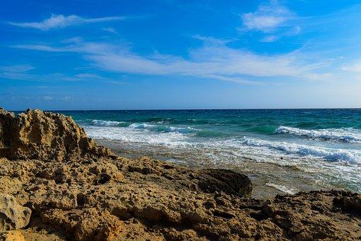 Rocky Coast, Landscape, Sea, Beach, Shore, Waves, Sky