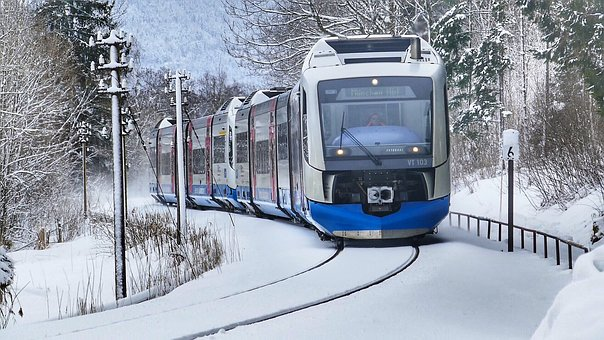 Winter, Snow, Cold, Train, Transport Systems Train