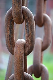 Chain, Iron, Rusty, Hard, Close, Strong