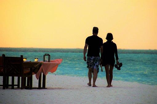 Beach, Sea, Table, Para, The Coast, The Sun, Sunset