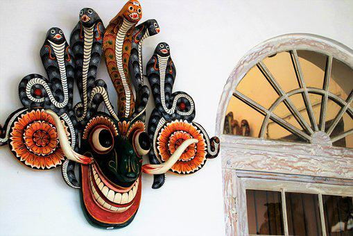 Sri Lanka, Mask, The Art Of, Traditional, Style, Crafts