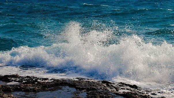 Water, Sea, Ocean, Wave, Splash, Nature, Spray