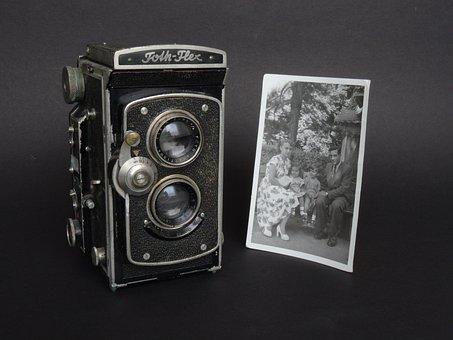 Camera, Zweiäugig, Full Format, Retro, Classic, Antique