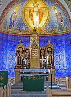 Blue Grotto, Catholic Church, Religion, Chapel, Altar