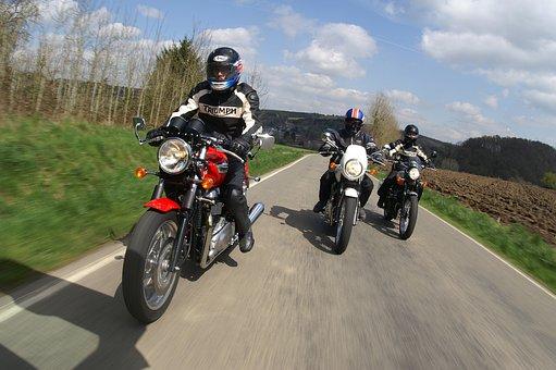 Motorbikes, Riding, Cruising, Bike, Biker, Hurry, Road