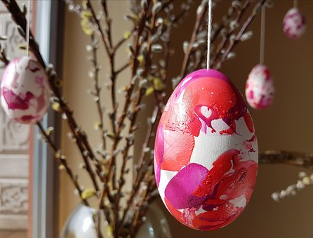 Easter, Egg, Painted, Easter Greeting, Goose Egg, Pink