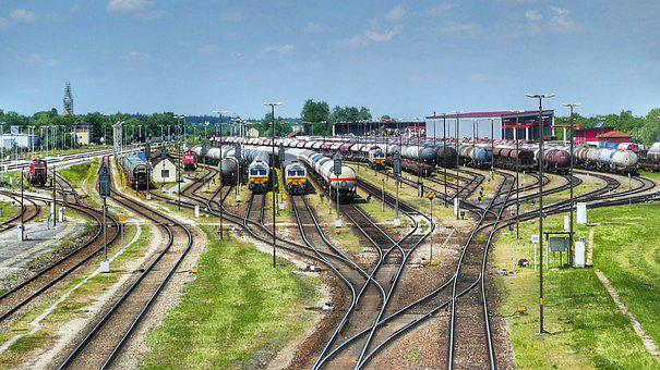 Transport System, Industry, Train, Railway Line, Travel
