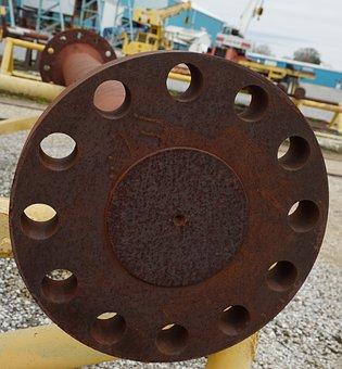 Steel, Round, Iron, Rusty, Wheel, Industry, Metallic