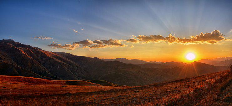 Panoramic, Sunset, Dawn, Nature, Mountain, Turkey