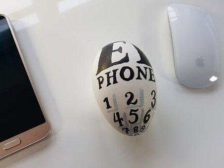 Egg, Humor, I-phone, Smartphone, Mouse, Apple