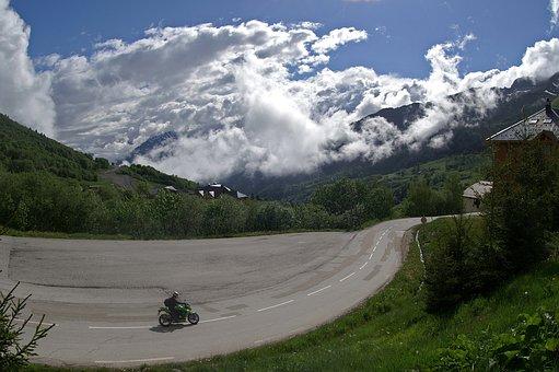 Motorbike, Bike, Nature, Mountain, Panoramic, Travel