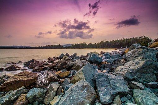 Water, Nature, Rock, Landscape, Sky, Sea, Beach
