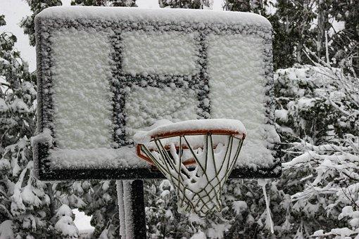 Outdoors, Nature, Snow, Basketball