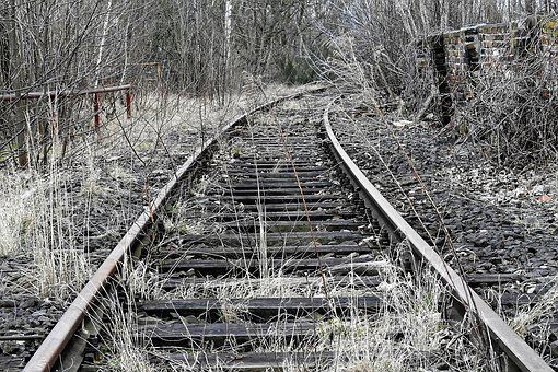 Track, Railroad Track, Old, Shut Down, Railway, Train