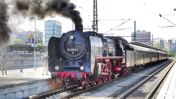 Train, Railway, Railway Line, Motor, Station