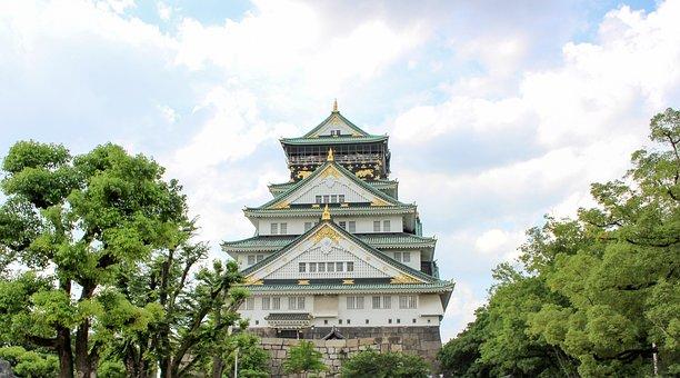 Osaka, Osaka Castle, Japan, Structure, Travel, Shrine