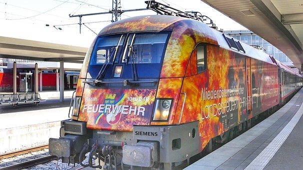 Train, Transport System, Traffic, Munich, Railway Line