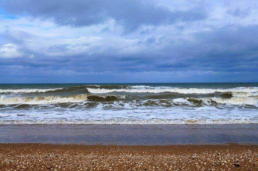 Nature, France, Normandy, Ocean, Wave, Shakes