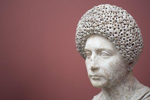 Portrait, Rome, Woman, Female, Sculpture, Statue, Art