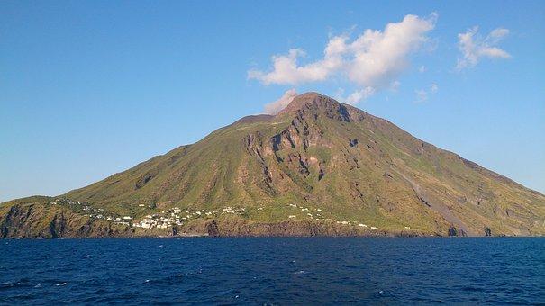 Stromboli, Aeolian Islands, Volcano, Active, Lava