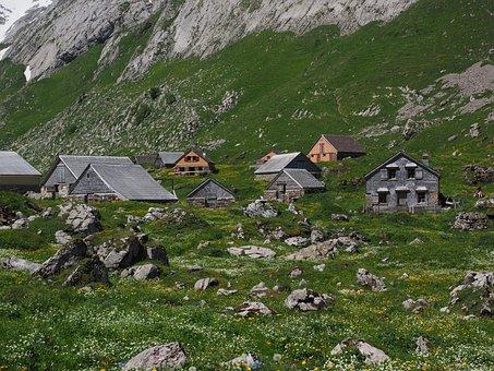 Meglisalp, Bergdorf, Homes, Alm, Alpine Village