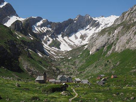 Säntis, Bergdorf, Meglisalp, Alpine Village, Appenzell