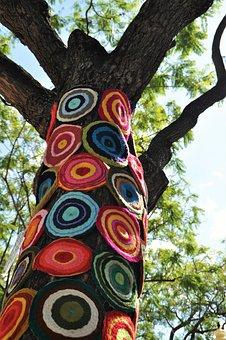 Upcycling, Tree, Crochet, Art, Tree Decoration