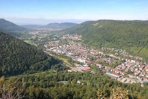 Bad Urach, Valley, Urach, Hanner Rocks, Viewpoint