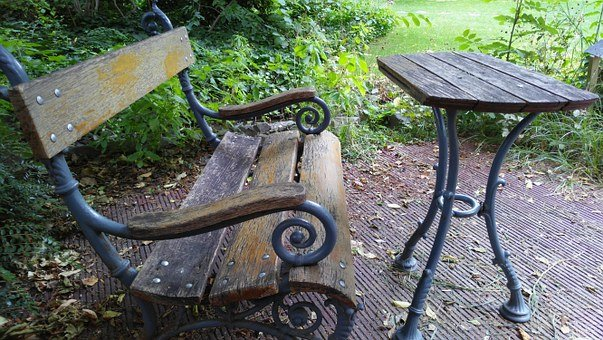 Jardin Des Plantes, Budapest, Table, Baench, Pad