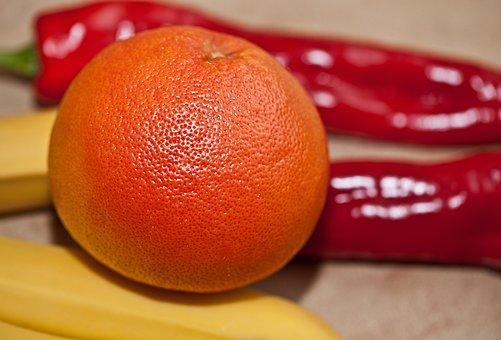 Fruit, Grapefruit, Paprika, Banana, Red Grapefruit