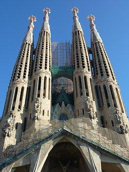 Sagrada Família, Building, Barcelona, Spain, Church