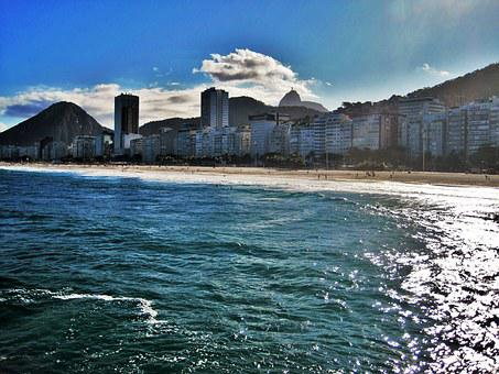 Copacabana, Views Of Corcovado, Rio, Beach, Sun