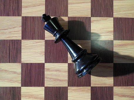 Chess, Play, Board Game, Chess Game, King, Matt, Black