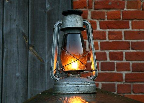Lamp, Kerosene, Lantern, Antiques, Board, Vintage, Oil