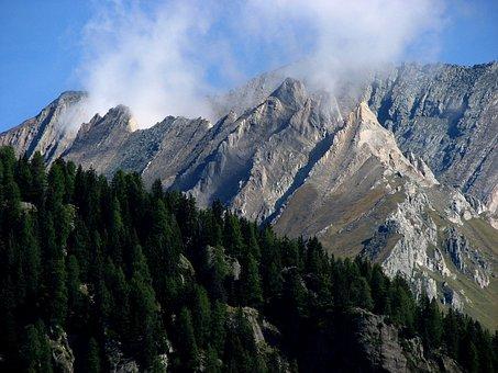 Mountain, Mountains, Clouds, Smoke, Boiler, Steam