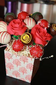 Cake Pops, Bouquet, Gift, Box, Dessert, Assortment