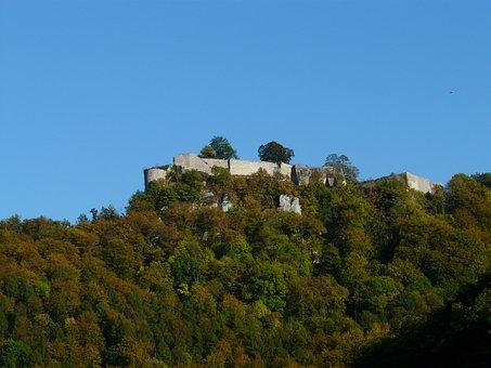 Burg Hohenurach, Hohenurach, Ruin, Burgruine, Mountain