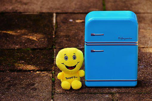 Full Fridge, Happy, Smiley, Funny, Yellow, Cheerful
