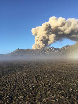 Volcano, Bromo, Java, Smoke, Cloud, Rash, Crater