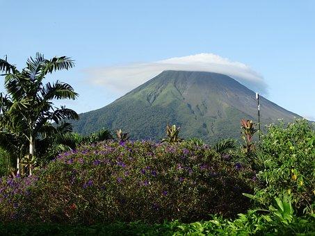 Volcano, Costa Rica, Mountain, Arenal, Tropical, Active