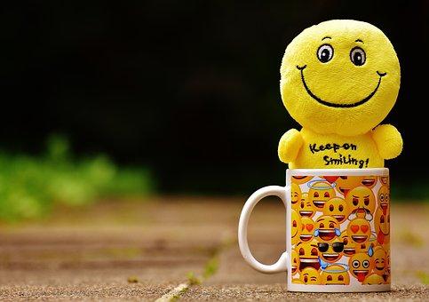 Smilies, Cup, Yellow, Funny, Joy, Emoticon, Emoji
