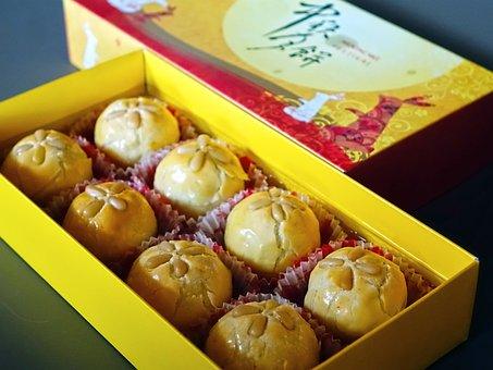 Moon Cake, Mid-autumn, Asian, Chinese, Festival