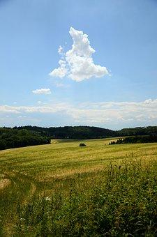 Field, Cloud, Landscape, View, Nature, Polyana, Sky