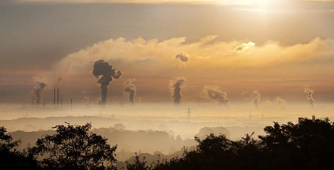 Industry, Sunrise, Fog, Germany, Factory, Ruhr Area