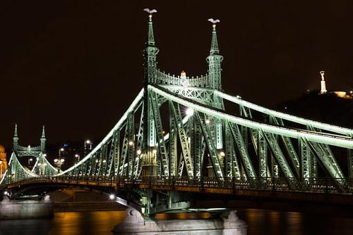 Budapest, Liberty Bridge, Franz-joseph Bridge