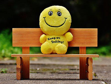 Smilies, Bank, Sit, Rest, Friends, Happy, Funny