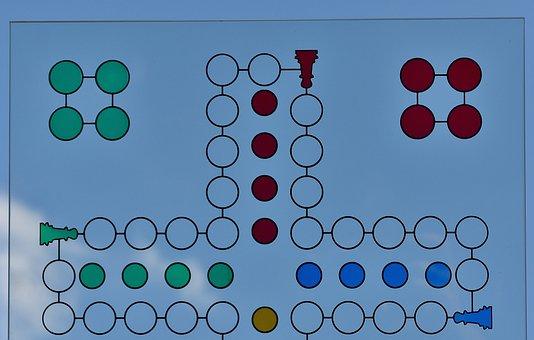 Not Ludo, Game Board, Glass, Sky, Blue