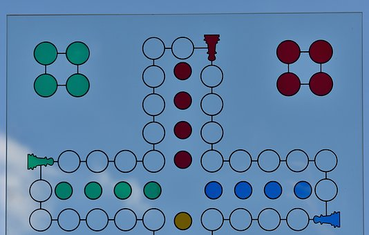 Not Ludo, Game Board, Glass, Sky, Blue