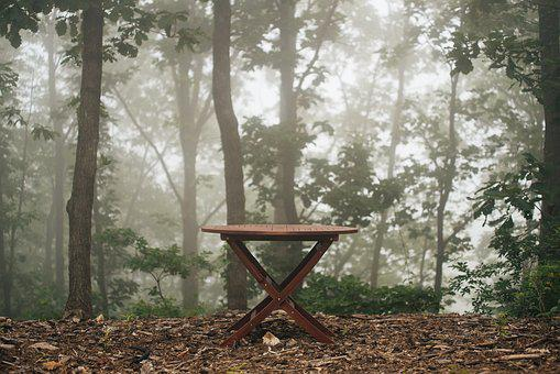 Bench, Table, Outdoor, Outdoor Furniture, Garden