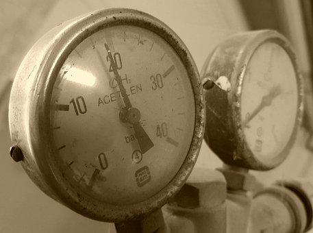 Pressure, Bottle, Meter, Acetylene, Gas, Gas Tank